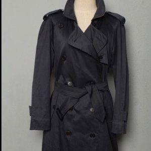 Vintage woman's Burberry double breasted trench coat